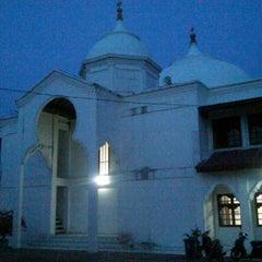 Photo taken at Masjid Agung Al-Falah by Rizky A. on 6/20/2013