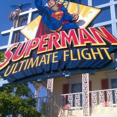 Photo taken at Superman: Ultimate Flight by Nick P. on 9/15/2012