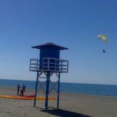 Photo taken at Playa Rincón de la Victoria by Calle L. on 6/7/2013