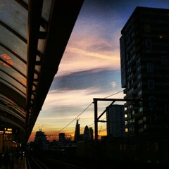 Photo taken at Shadwell DLR Station by Matt W. on 9/12/2013