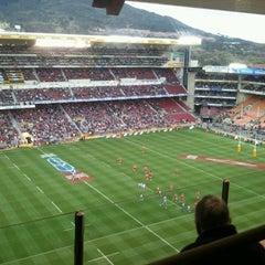 Photo taken at Newlands Rugby Stadium by Pierre L. on 5/25/2013