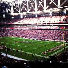 Photo taken at University of Phoenix Stadium by Martha U. on 12/23/2012
