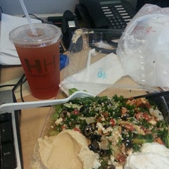 Photo taken at Hummus House Pitas and Salads by DeLonda S. on 4/7/2014