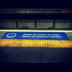 Photo taken at Estação Portuguesa-Tietê (Metrô) by Alexandre M. on 10/21/2012