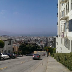 Photo taken at Fillmore Stairs by Marina K. on 7/5/2013