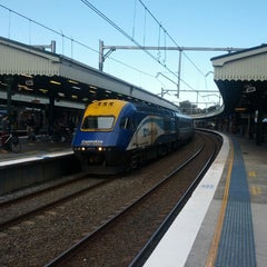 Photo taken at Strathfield Station (Platforms 7 & 8) by Craig S. on 8/3/2014