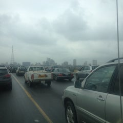 Photo taken at Third Mainland Bridge by DeejayQuest N. on 7/17/2014