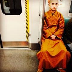 Photo taken at 地铁海淀黄庄站 Subway Haidian Huangzhuang by Lorenzo F. on 1/5/2014