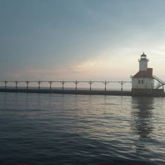 Photo taken at St. Joseph North Pier (at Tiscornia Park) by Wes P. on 5/21/2014