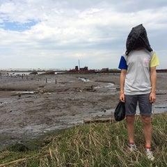 Photo taken at Staten Island Tugboat Graveyard by Masha Y. on 5/12/2014