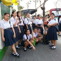 Photo taken at โรงเรียนวัดเขมาภิรตาราม (Wat Khemapirataram School) by Pawit S. on 2/18/2014