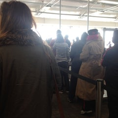 Photo taken at Ellis Island Ferry Security Queue by Vladimir R. on 4/8/2014