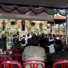 Photo taken at Panggung Terbuka Balai Budaya Gianyar by Cadex W. on 10/18/2012