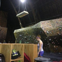 Photo taken at Red Barn Climbing Gym by Sarah K. on 8/2/2013