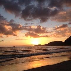 Photo taken at Praia de Guaecá by Marcus Vinicius C. on 11/17/2012