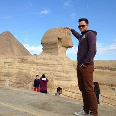 Photo taken at Great Sphinx of Giza | تمثال أبو الهول by Tilo G. on 1/21/2013