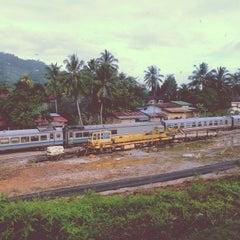 Photo taken at KTM Dabong Railway Station (Stesen Keretapi) by Jeremy O. on 1/9/2015