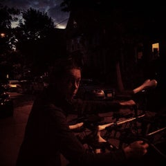 Photo taken at Inman Square by Devin H. on 8/24/2014