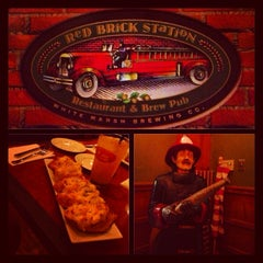 "Photo taken at Red Brick Station Restaurant & Brew Pub by Lisa Marie ""Phoenix"" J. on 1/20/2013"