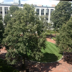 Photo taken at Krentzman Quadrangle by Northeastern CSSH on 8/1/2013
