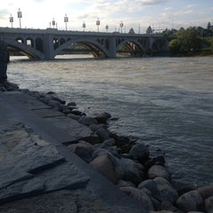 Photo taken at Centre St Bridge by Lena M. on 7/4/2013