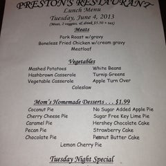 Photo taken at Preston's Restaurant by Greg G. on 6/4/2013