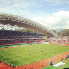 Photo taken at Estadio Nacional by Dey D. on 6/30/2013