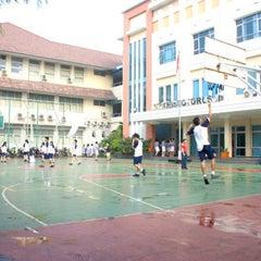 Photo taken at SMA Katolik Santo Kristoforus 2 by Natasha K. on 12/10/2013