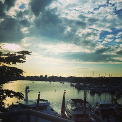 Photo taken at Granville Island Hotel by Stephen G. on 5/21/2015