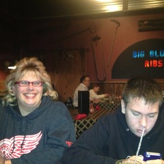 Photo taken at Big Blue's Ribs And More by Erin S. on 1/4/2013