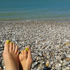 Photo taken at Veulettes sur mer by Evgenia T. on 8/9/2013
