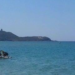 Photo taken at Spiaggia Torre dei Corsari by Cristina C. on 8/24/2013