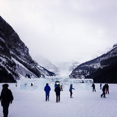 Photo taken at Lake Louise by Paolo R. on 1/12/2014