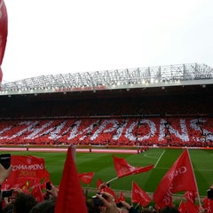 Photo taken at Old Trafford by Dan R. on 5/12/2013