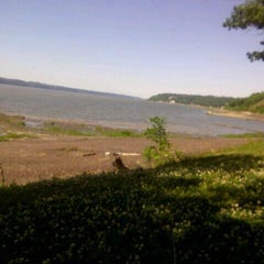 Photo taken at Plage Jacques Cartier by Loulou C. on 7/11/2014