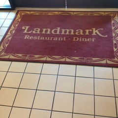 Photo taken at Landmark Diner by Malcohm N. on 4/25/2013