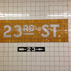 Photo taken at MTA Subway - 23rd St (C/E) by Seth F. on 10/6/2013