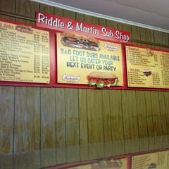 Photo taken at Riddle & Martin Sub shop by Edwin V. on 8/31/2013