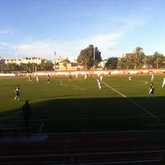 Photo taken at Estadio Municipal Manolo Macia by Toni M. on 1/26/2013