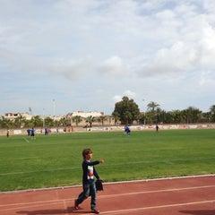 Photo taken at Estadio Municipal Manolo Macia by Toni M. on 4/21/2013