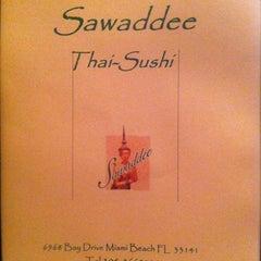 Photo taken at Sawaddee Thai-Sushi Restaurant by Roberto L. on 8/30/2012