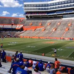 Photo taken at Ben Hill Griffin Stadium by Callie D. on 4/7/2012