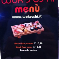 Photo taken at Wok Sushi by Alessio S. on 1/9/2011