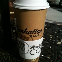 Photo taken at Manhattan Bagel by Nomi E. on 8/13/2011