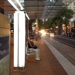 Photo taken at TriMet SW 6th & Pine St MAX Station by Igor G. on 7/8/2012