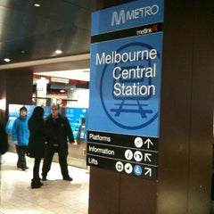 Photo taken at Melbourne Central Station by Jess M. on 7/11/2012