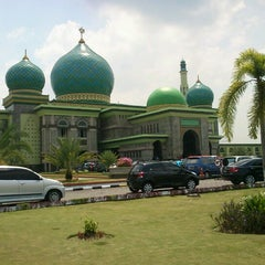 Photo taken at Masjid Agung An-Nur by Mulyadi M. on 7/26/2012