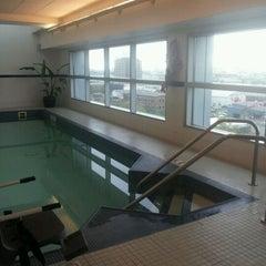 Photo taken at Hampton Inn & Suites Boston Crosstown Ctr by Jessica on 5/23/2012