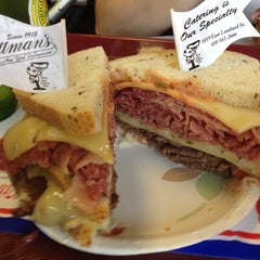 Photo taken at Attman's Authentic New York Delicatessen by Bryan L. on 7/7/2012