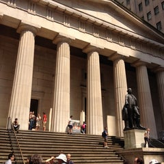 Photo taken at Federal Hall National Memorial by Courtney❄️🌬☃⛄️ on 8/15/2012